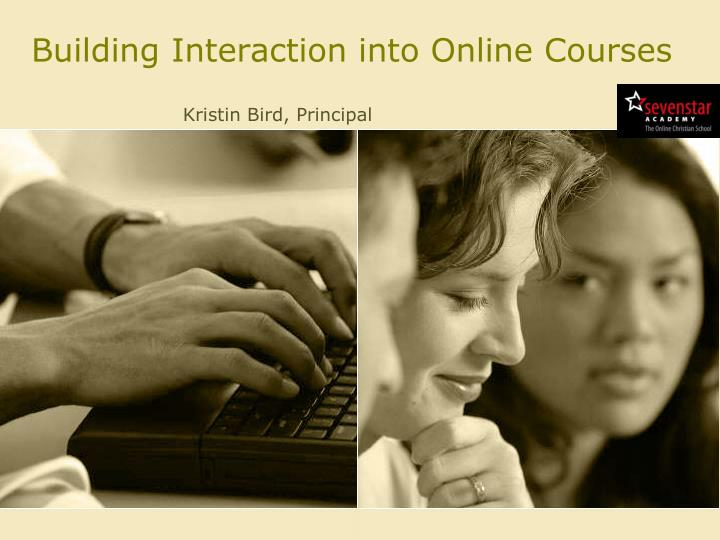 building interaction into online courses n.