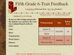 fifth grade 6 trait feedback