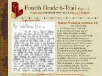 fourth grade 6 trait pages 1 2
