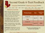 second grade 6 trait feedback
