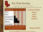 six trait scoring