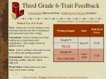 third grade 6 trait feedback