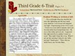 third grade 6 trait pages 3 4