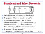 broadcast and select networks