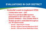 evaluations in our district