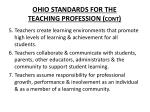 ohio standards for the teaching profession cont