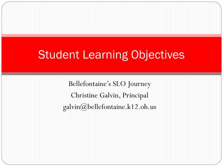student learning objectives n.