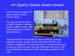 air quality issues diesel exhaust