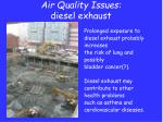 air quality issues diesel exhaust1