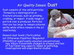 air quality issues dust