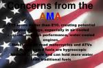 concerns from the a m a