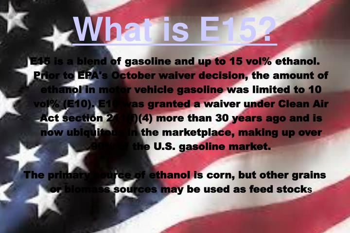 what is e15 n.
