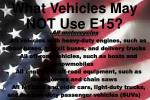 what vehicles may not use e15