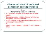 characteristics of personal computer correspondence2