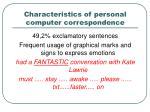 characteristics of personal computer correspondence3