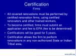 certification firms