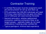contractor training