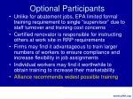 optional participants