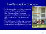 pre renovation education