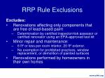 rrp rule exclusions