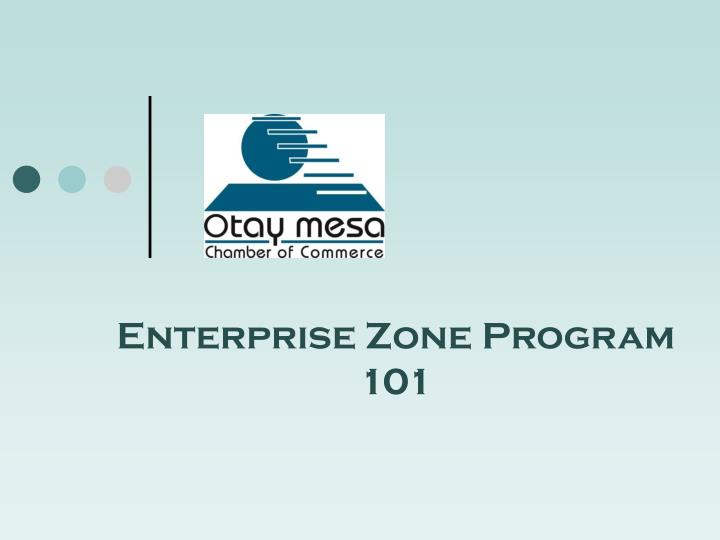 enterprise zone program 101 n.