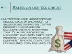 sales or use tax credit