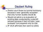 daubert ruling