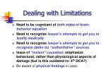 dealing with limitations