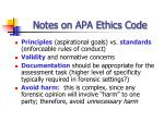 notes on apa ethics code