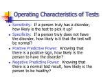 operating characteristics of tests