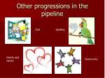 other progressions in the pipeline