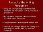 producing the writing progression
