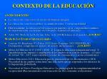contexto de la educaci n
