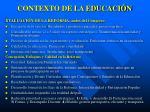 contexto de la educaci n1
