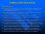 formaci n docente