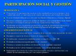 participaci n social y gesti n