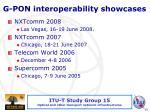 g pon interoperability showcases