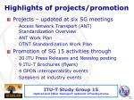 highlights of projects promotion