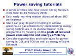 power saving tutorials