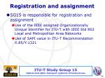 registration and assignment
