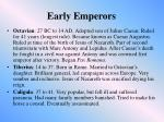early emperors
