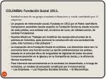 colombia fundaci n social 1911