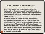 concilio vaticano ii gaudium et spes