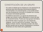 constituci n de un grupo