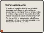 cristianos en oraci n