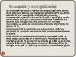 educaci n y evangelizaci n