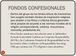 fondos confesionales
