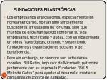 fundaciones filantr picas