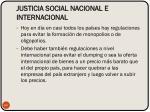 justicia social nacional e internacional