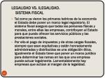 legalidad vs ilegalidad sistema fiscal